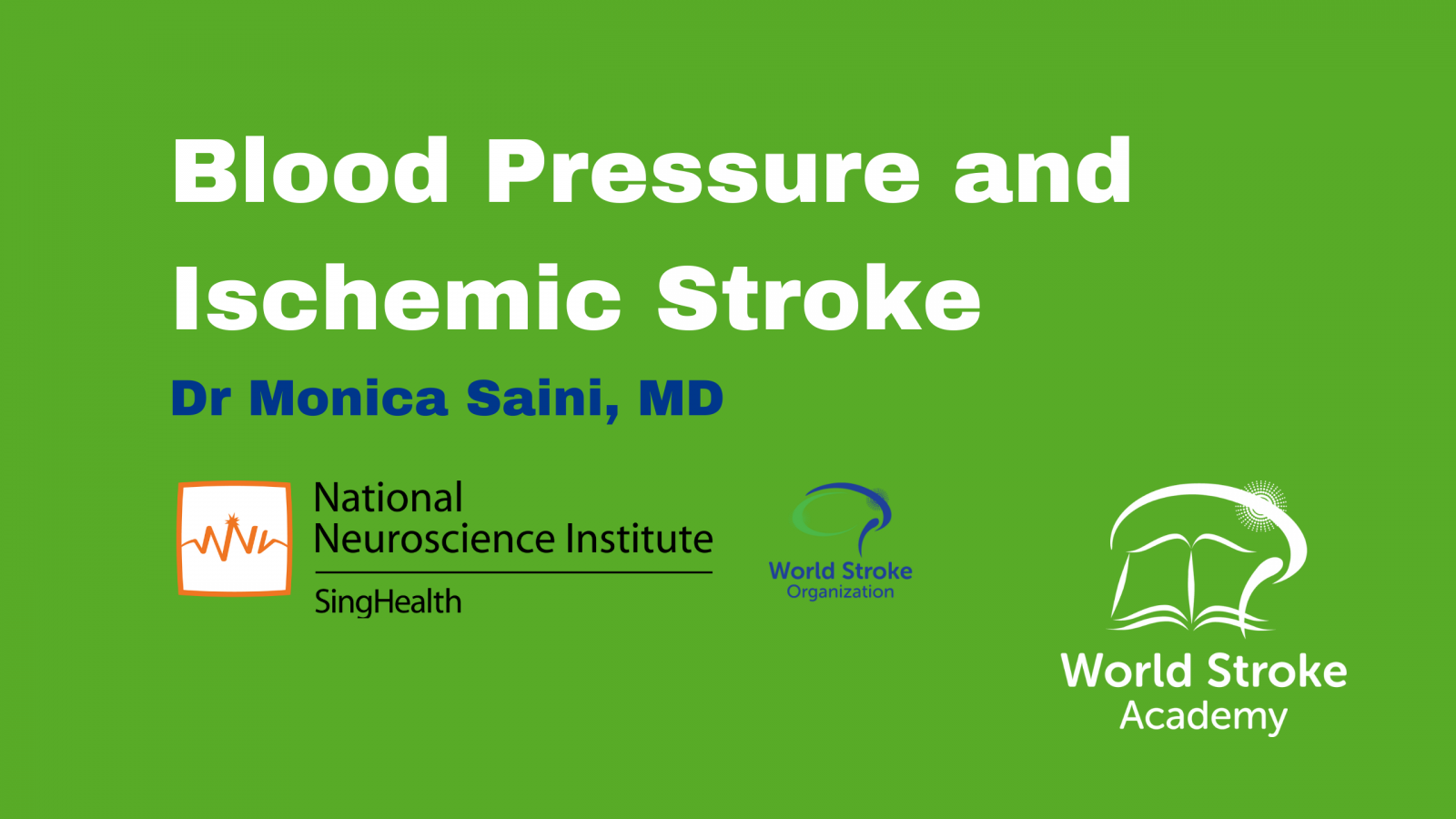 Blood Pressure and Ischemic Stroke