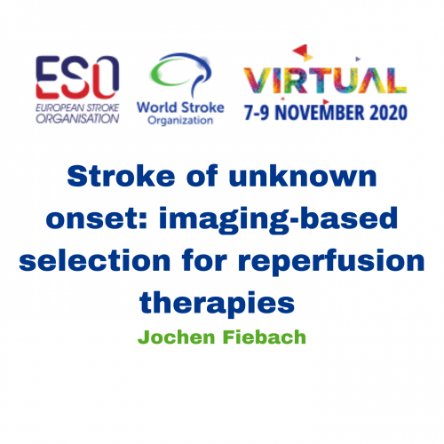 Stroke of unknown onset: imaging-based selection for reperfusion therapies – Jochen Fiebach