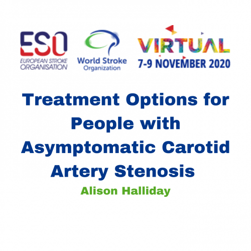 Treatment Options for People with Asymptomatic Carotid Artery Stenosis – Alison Halliday