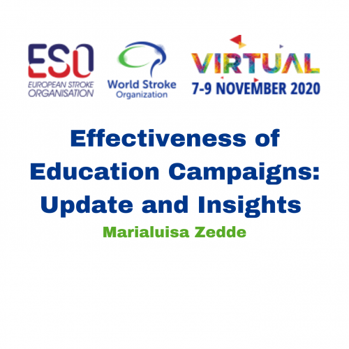 Effectiveness of Education Campaigns: Update and Insights – Marialuisa Zedde