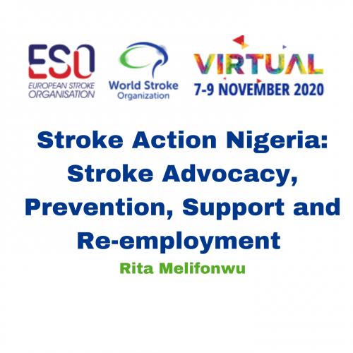 Stroke Action Nigeria: Stroke Advocacy, Prevention, Support and Re-employment – Rita Melifonwu