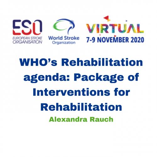WHO's Rehabilitation agenda: Package of Interventions for Rehabilitation – Alexandra Rauch